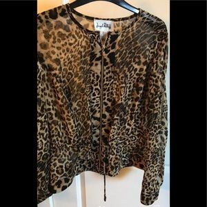 Joseph Ribkoff jacket Animal Print Top